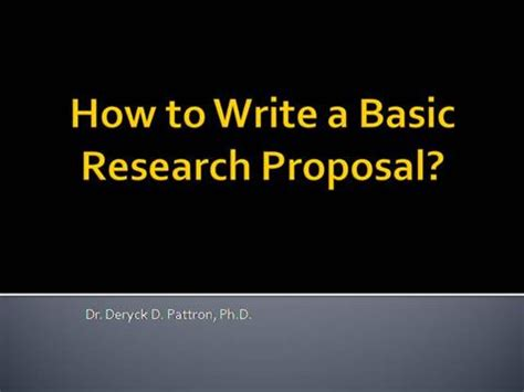 Sample thesis proposal powerpoint presentation